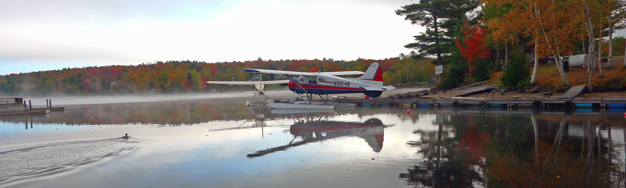 Sea planes on peaceful Moosehead Lake